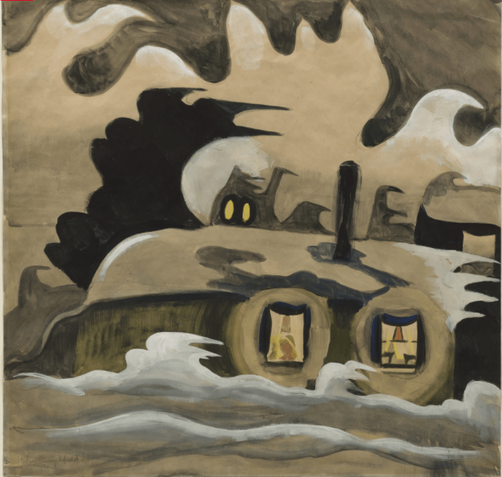 The Night Wind (1918) by Charles Burchfield