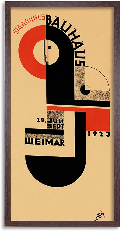 Bauhaus Weimar Expo 1923 Long Panel Framed Wall Art Print