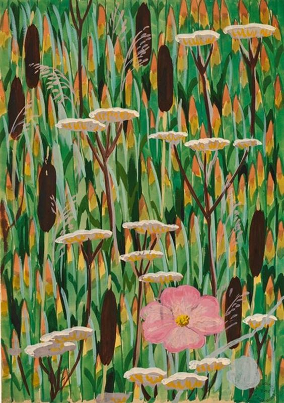 Cat-Tails (1916) by Charles Burchfield
