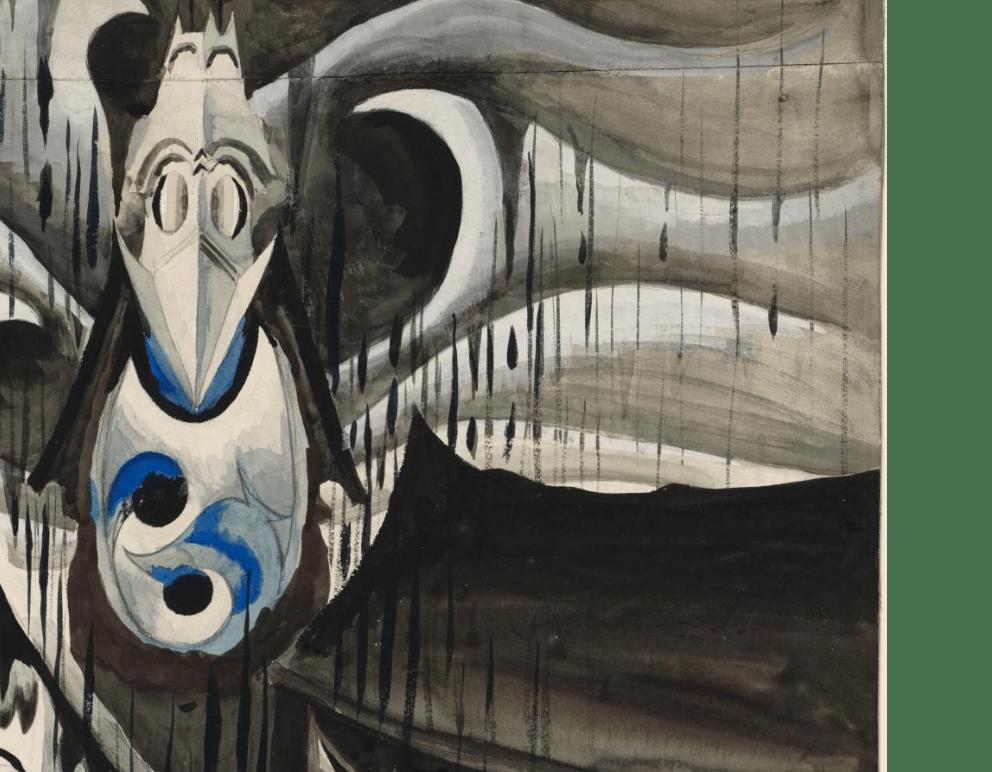 Church Bells Ringing - Rainy Winter Night (1917) by Charles Burchfield