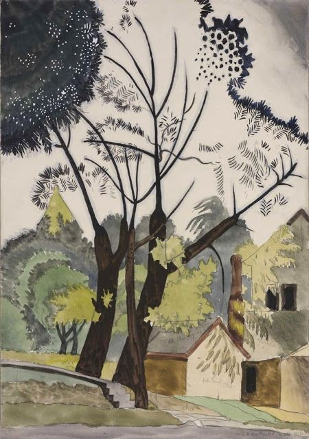 Decorative Landscape: Shadow (1916) by Charles Burchfield