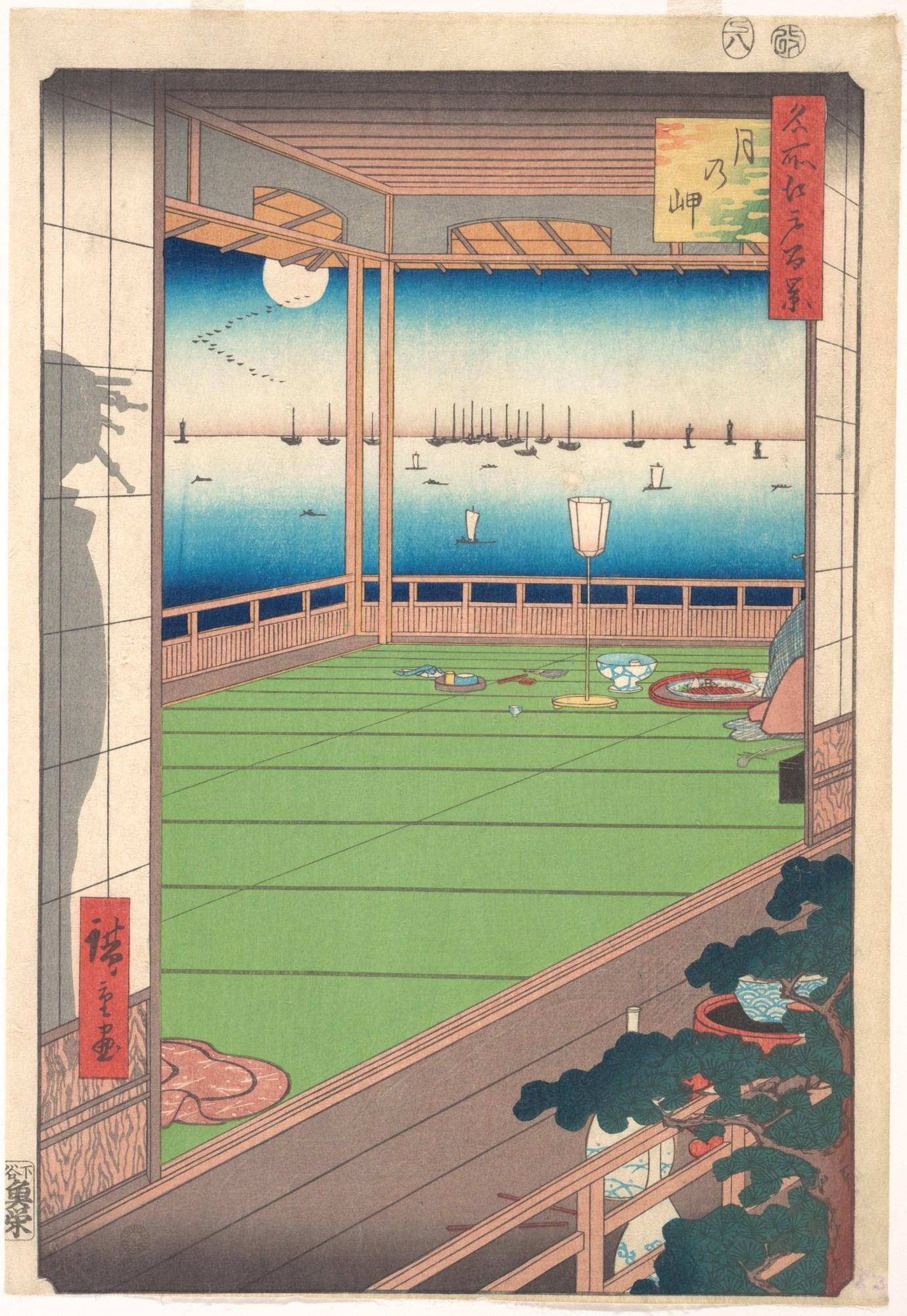 Moon Viewing Point by Utagawa Hiroshige