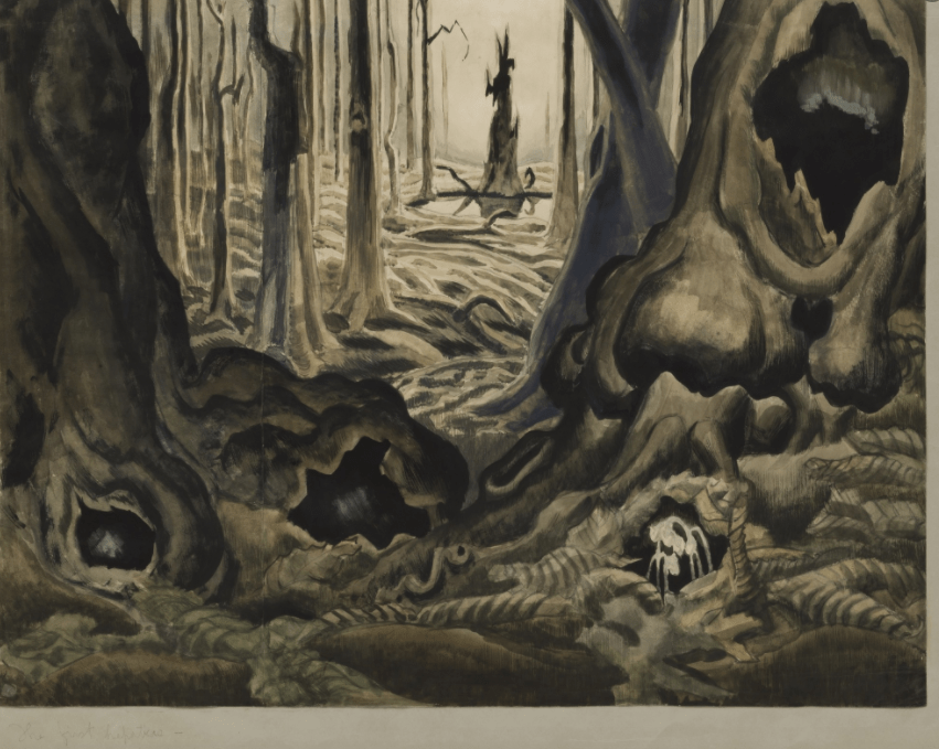 The First Hepaticas 1918) by Charles Burchfield