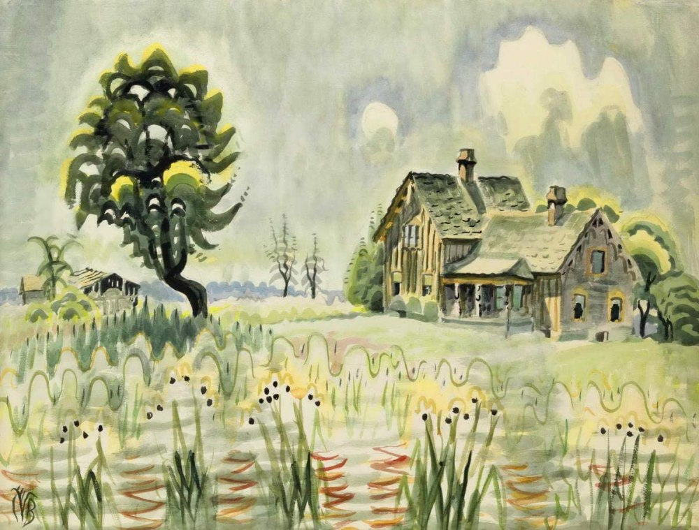 Country Home in Midsummer by Charles Burchfield Art Print