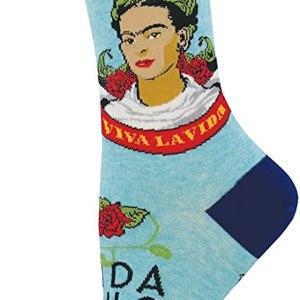 "Socksmith Womens' Novelty Crew Socks""Viva La Frida"""