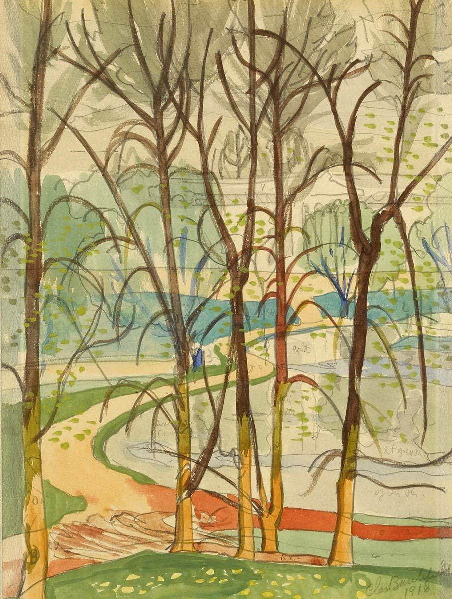Park Landscape by Charles Burchfield Art Print