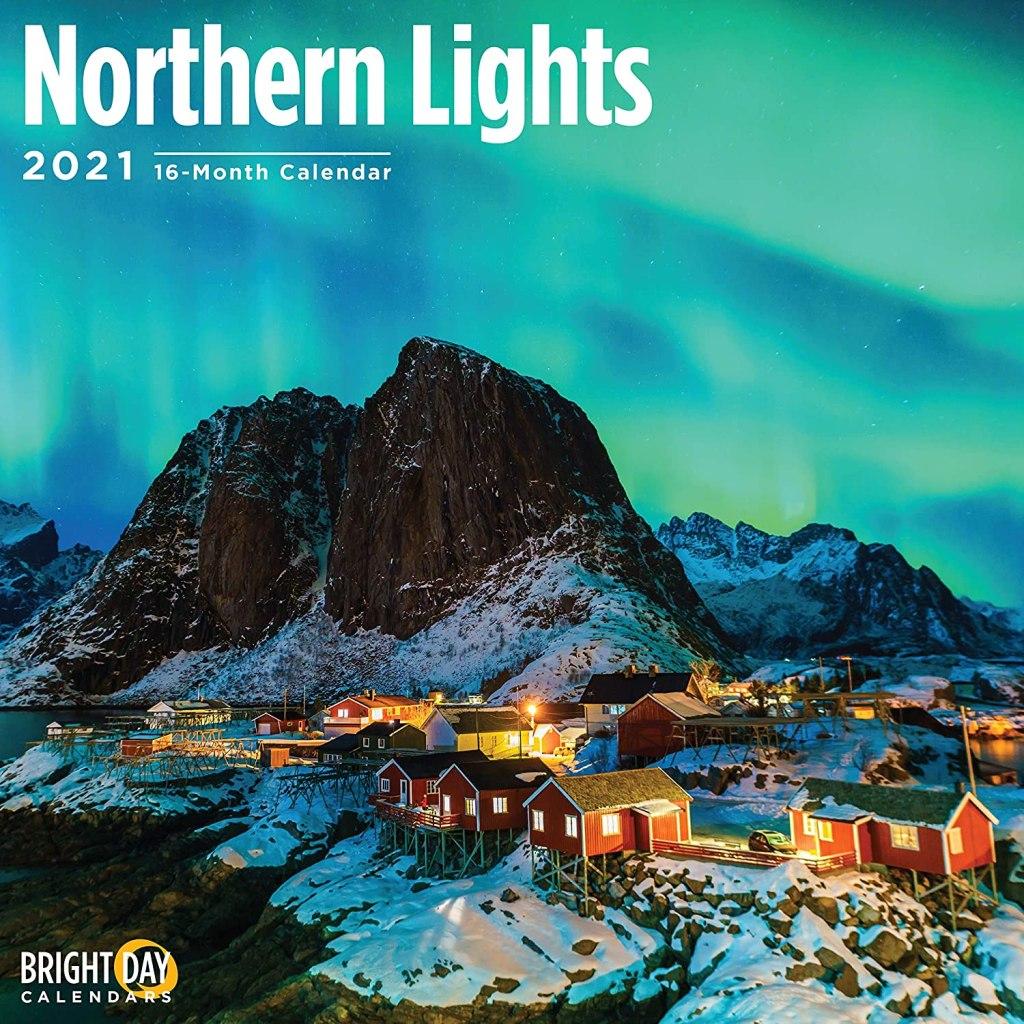 Bright Day Calendars 2021 Northern Lights Wall Calendar by Bright Day, 12 x 12 Inch, Aurora Borealis
