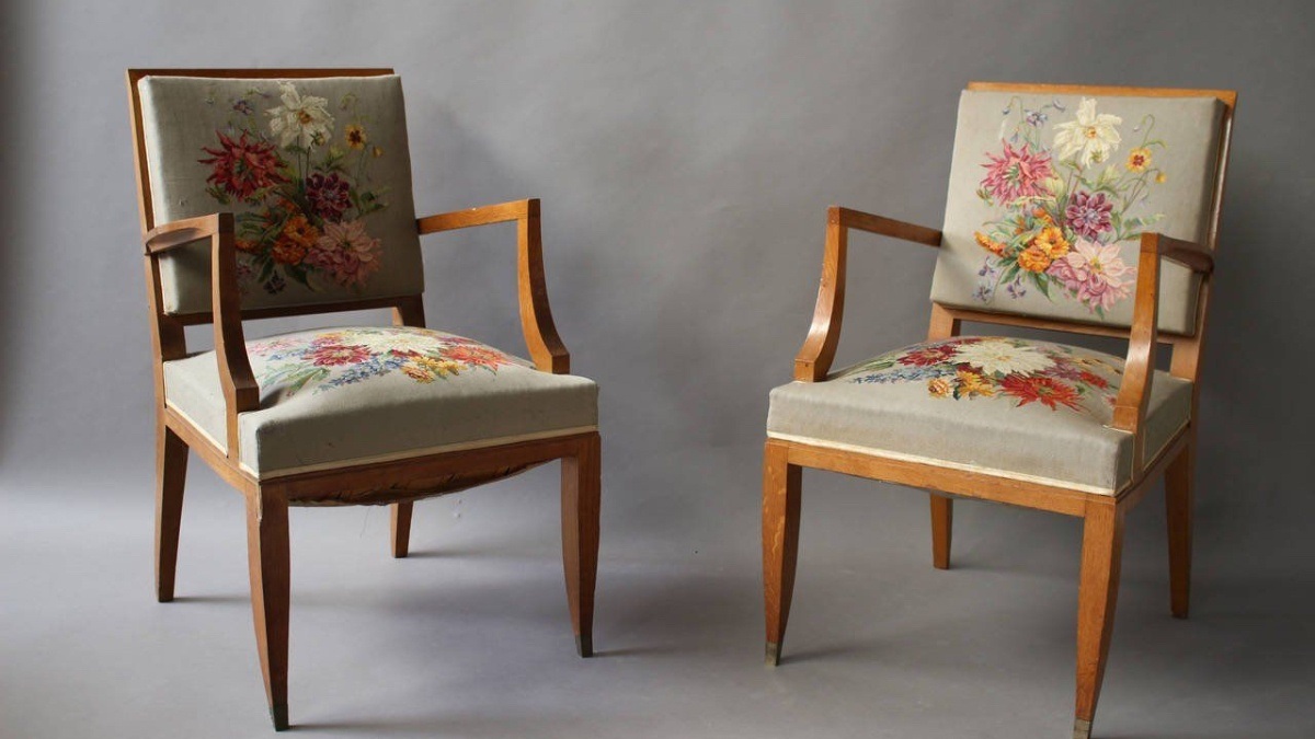 Antique Chairs by Lucien Rollin