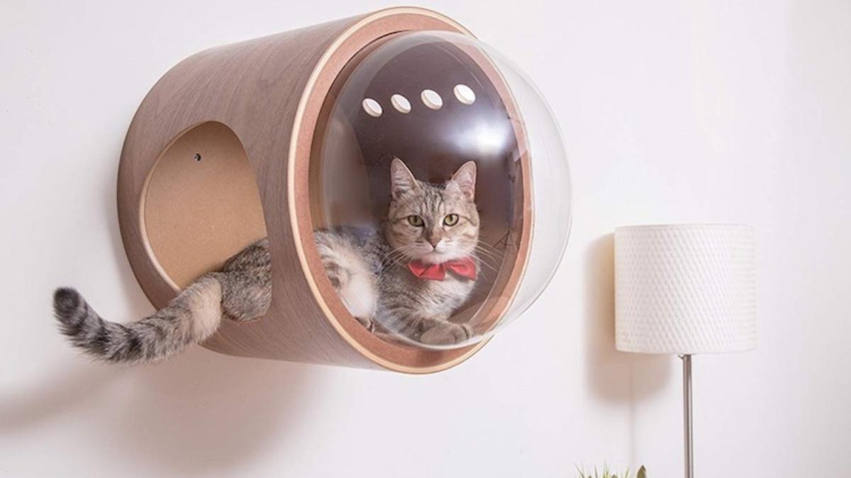 Spaceship Cat Bed
