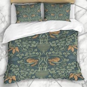 William Morris Vintage Floral Pattern Duvet Set