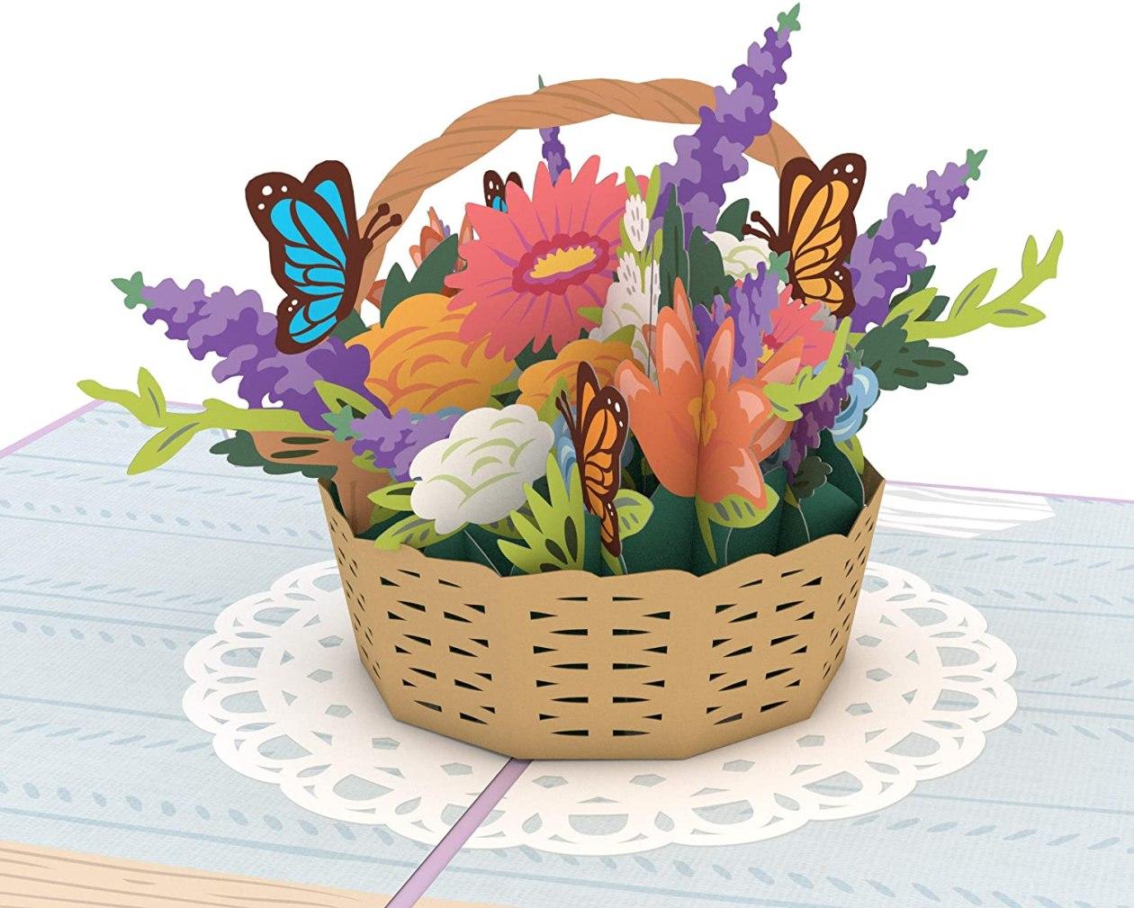 lovepop flower basket greeting card