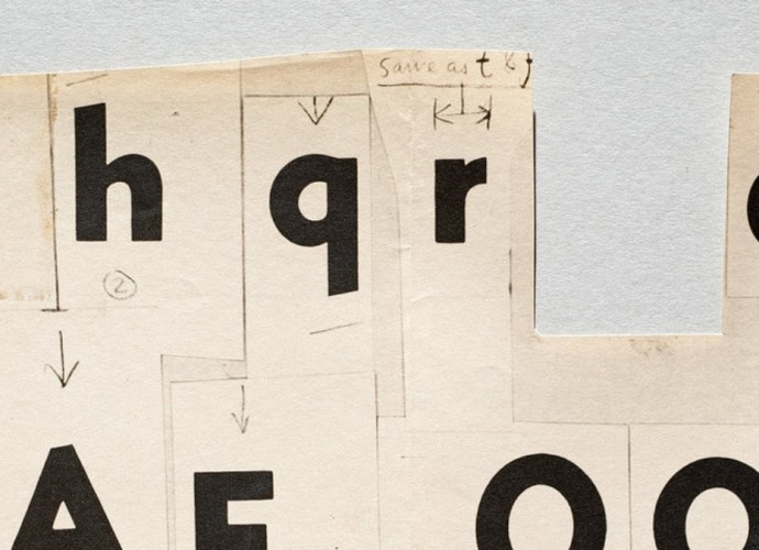 Early studies for Metroblack, the first full typeface designed by Dwiggins.