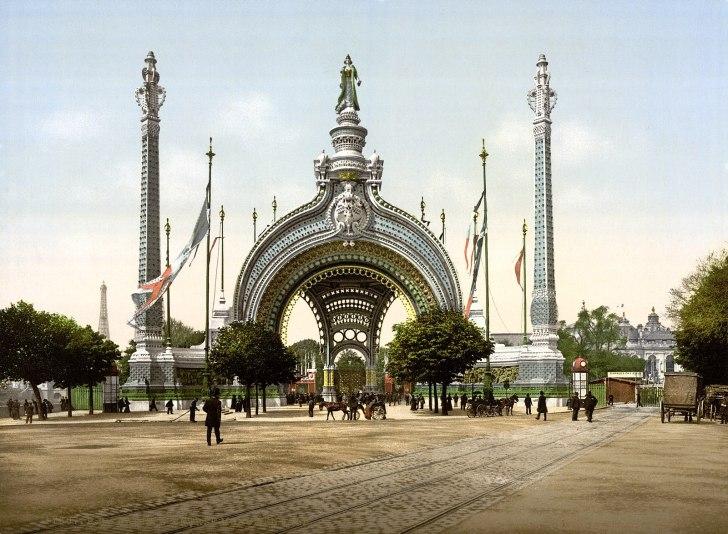 Grand entrance, Exposition Universal, 1900, Paris