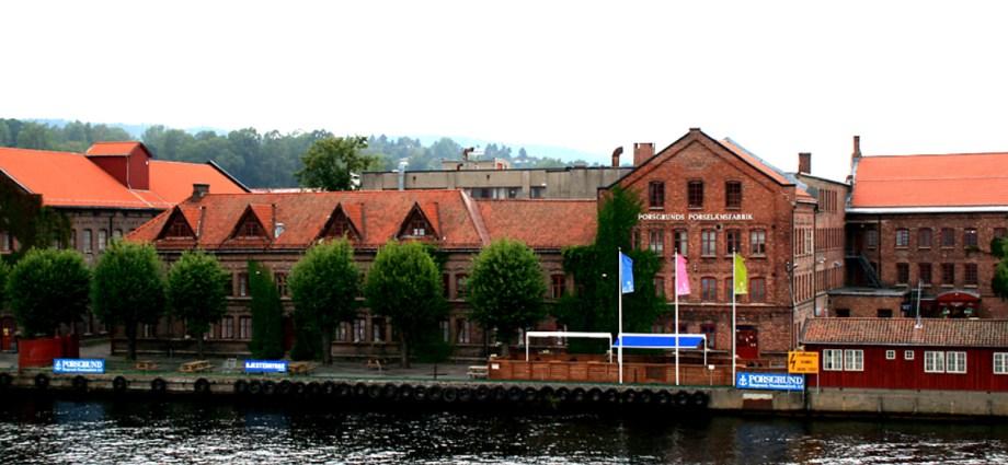 Porsgrund Porselænsfabrik the largest Porcelain factory in Norway