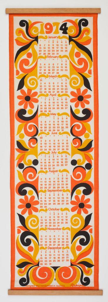 Wall Hanging - John Rodriquez, Calendar, 1974