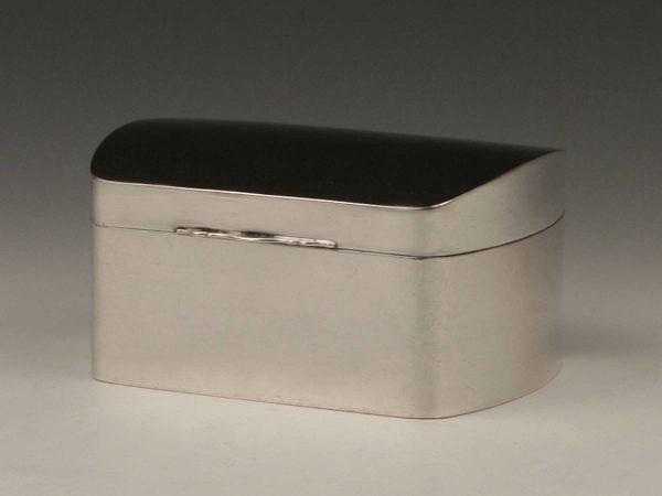 A rare Art Déco 835 grade silver lidded box Stuttgart circa 1936 by Erna Zarges-Dürr