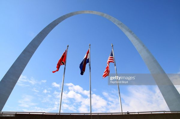 Gateway Arch, in St Louis, Missouri designed by Eero Saarinen