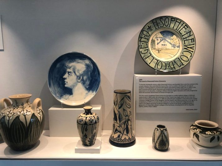 Newcomb Pottery through the years exhibition photos