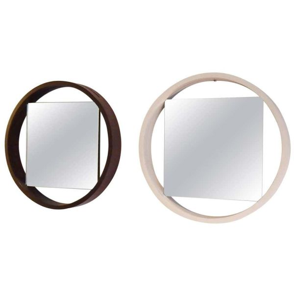 Iconic 1950s Black and White Modernist Mirror by Benno Premsela