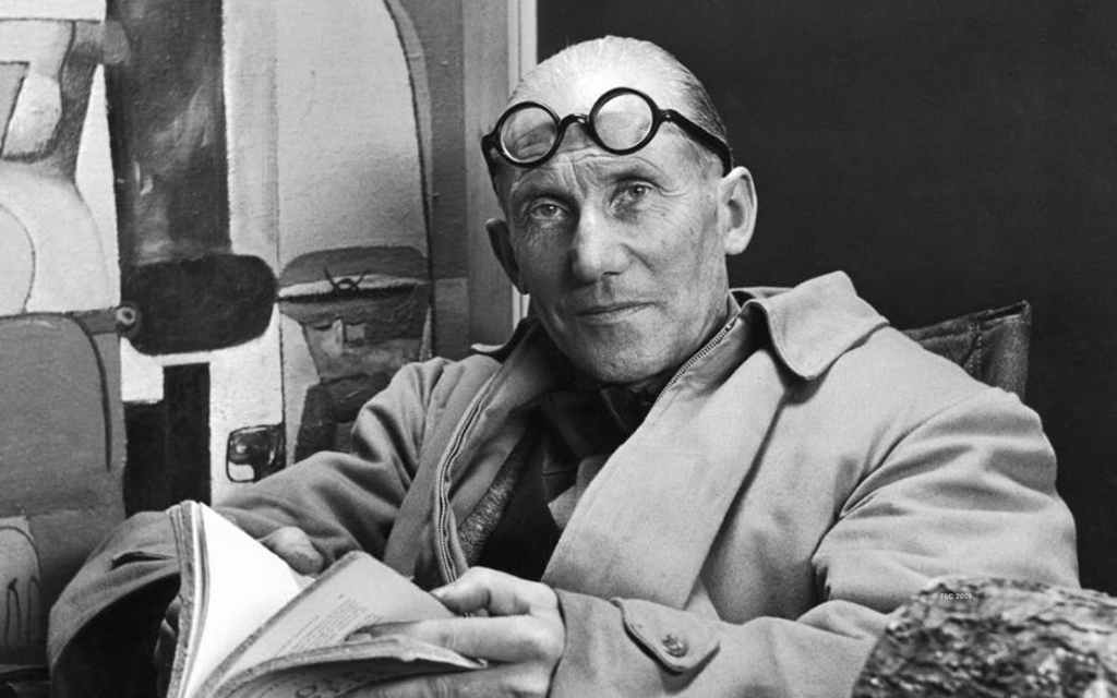 Le Corbusier image in black and white