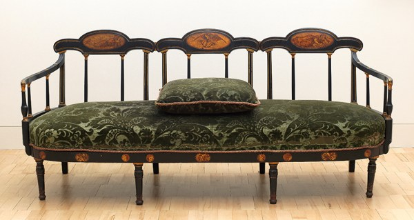 Rossetti sofa designed and painted by Dante Gabriel Rossetti