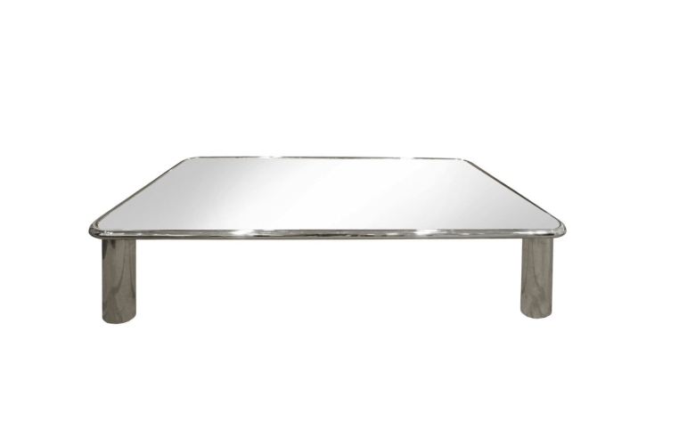Low Plexiglas Coffee Table with Magazine Rack by Fabio Lenci, 1960s