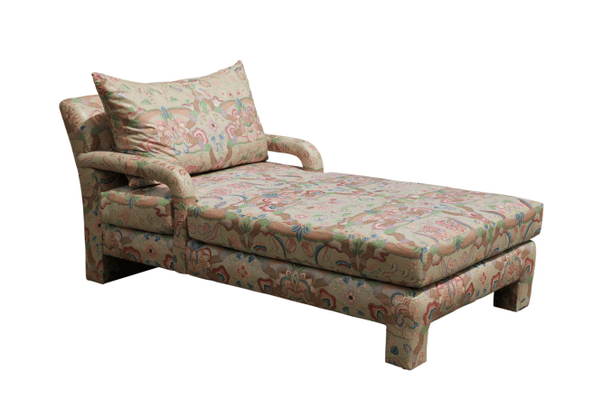 Stunning Postmodern John Mascheroni for Swaim Chaise Lounge / Daybed Floral