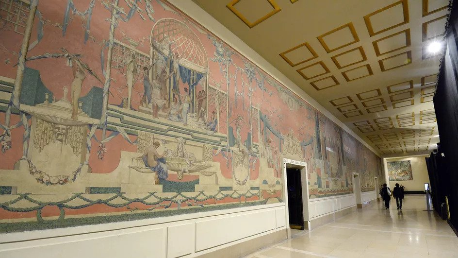 """""""The ancient theater"""", fresco by Gustave Louis Jaulmes"""