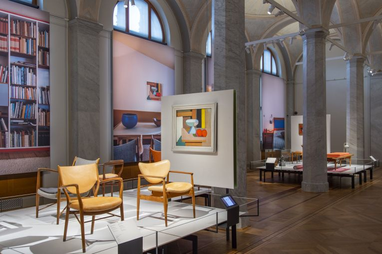 Finn Juhl exhibition interior at the National Museum
