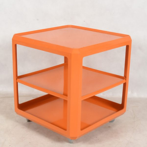 Table with a shelf in plastic by Alberto Roselli