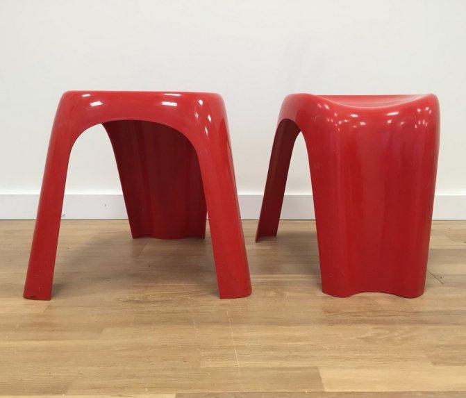 Italian design stackable 'Stacky' stools by Giorgina Castiglioni for Bilumen