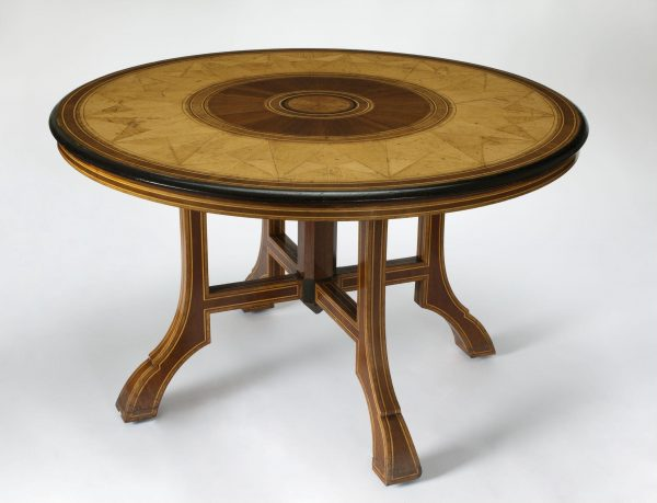 TABLE AND CHAIRS ENGLISH: 1872 Designed by Owen Jones (1809-1874)