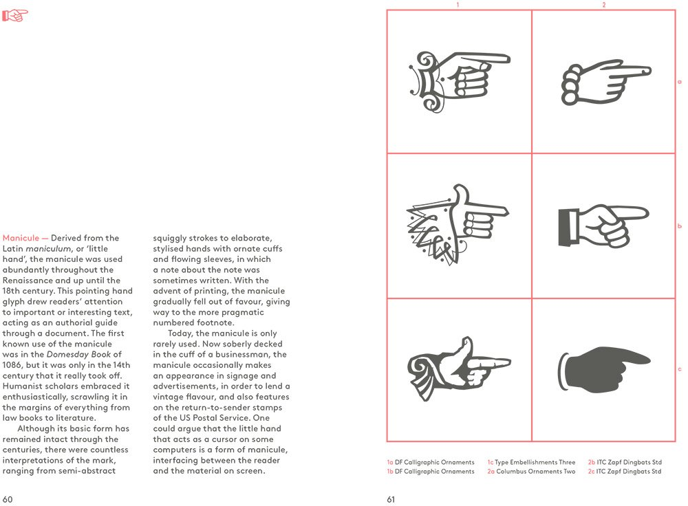 Glyph: A Visual Exploration of Punctuation Marks and Other Typographic Symbols sample page