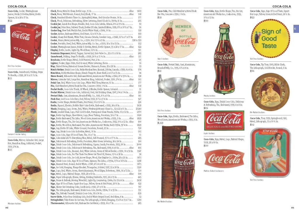 Kovels' Antiques and Collectibles Price Guide 2021 sample page