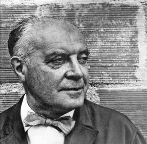 Gio Ponti - Italian designer and architect black and white portrait