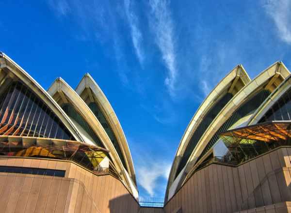 low angle photo of sydney opera house australia