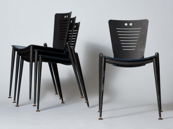 Set of 4 RC Dining Chairs by Ronald Cecil Sportes for Tecno, 1980s