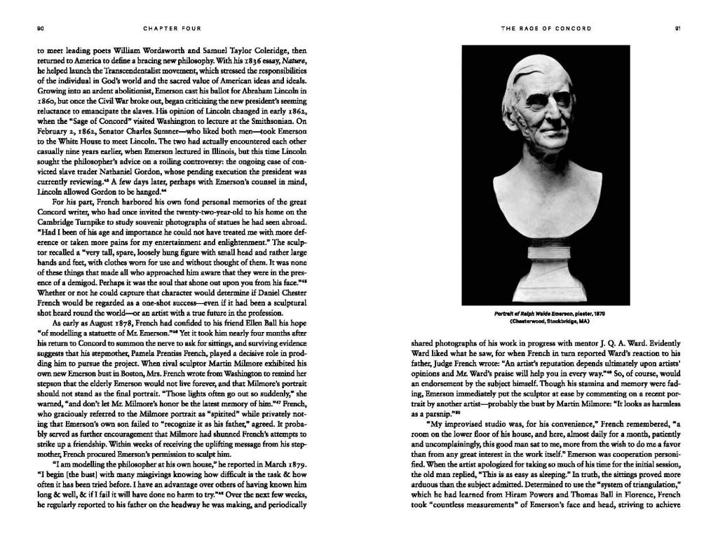 Monument Man: The Life and Art of Daniel Chester French. Page sample