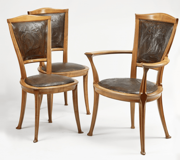 Display table with two chairs - Charles Plumet