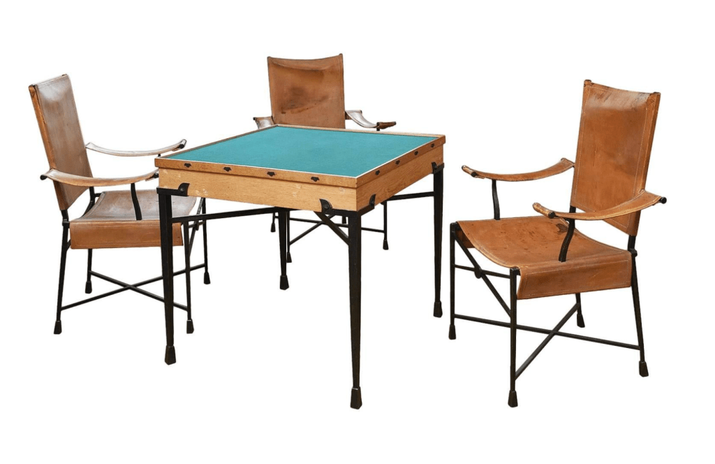 Exceptional Game Table and Chairs designed by Etienne Kohlmann