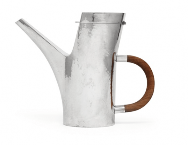 Sterling silver coffee pot , 1985 designed by Sigurd Persson