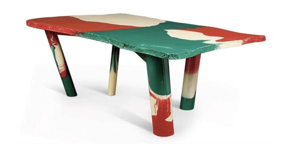 Sansone table (1980) designed by Gaetano Pesce