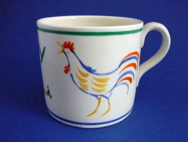 Susie Cooper Gray's Pottery 'Rooster' Nursery Ware Child's Mug Pattern c1928