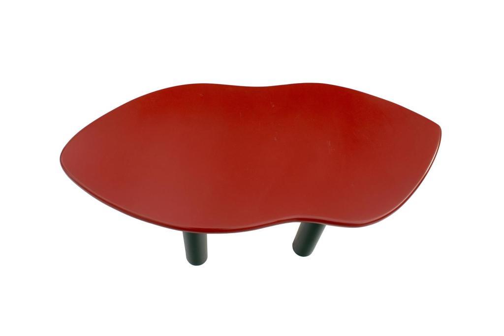 Joan Crawford Lips Coffee Table by Jay Spectre -top birds eye view