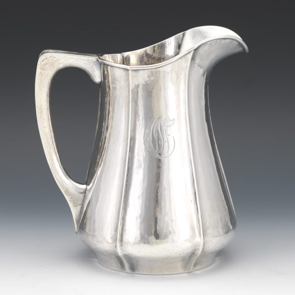 Julius Olaf Randahl Chicago Arts & Crafts Sterling Silver Hand Wrought Pitcher