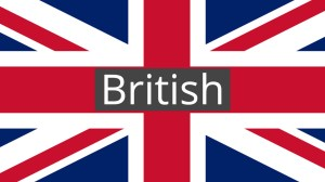 British Flag with text
