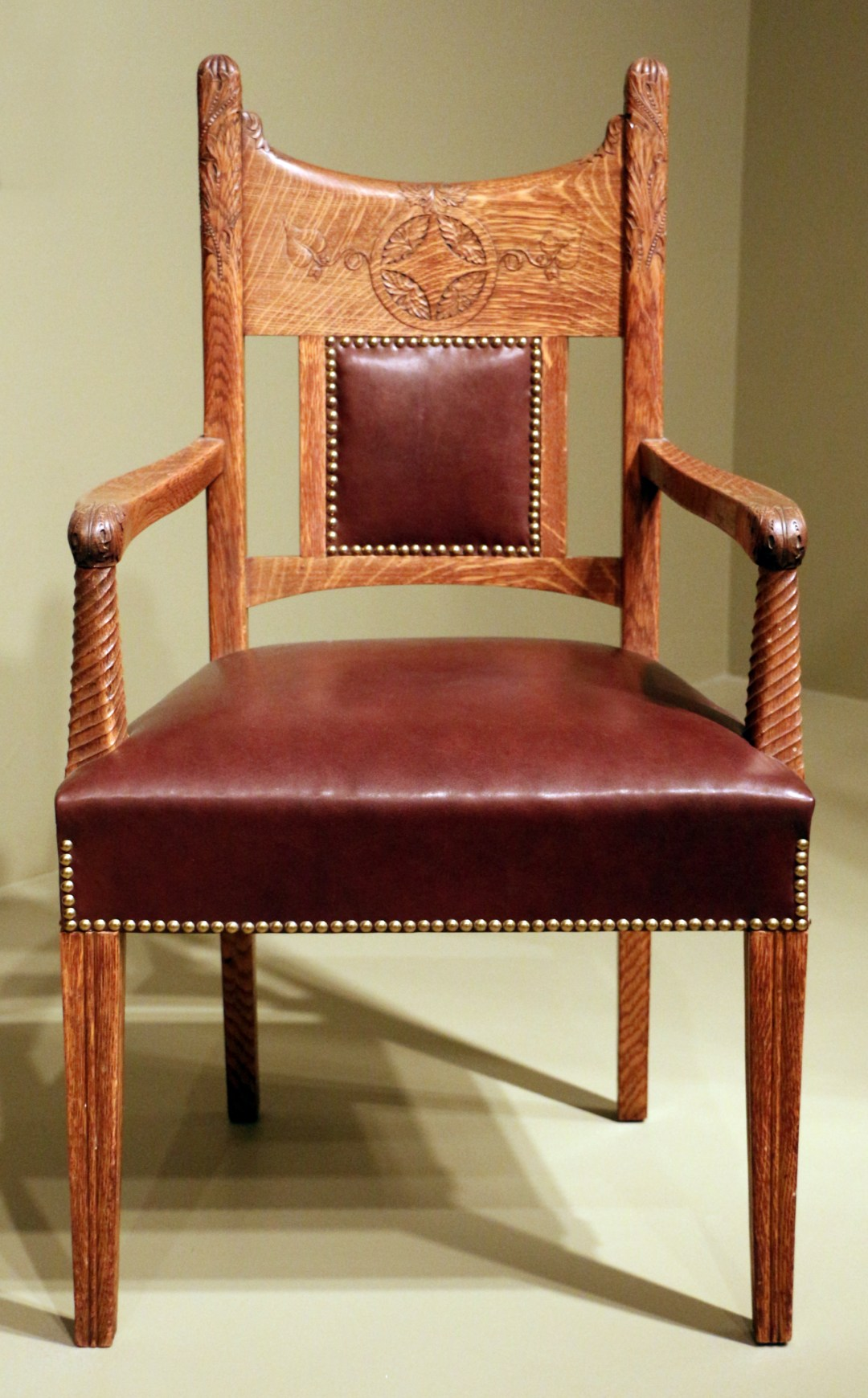 Chair made by A.H. Davenport and attributed to Francis H. Bacon. American Furniture in the Art Institute of Chicago.