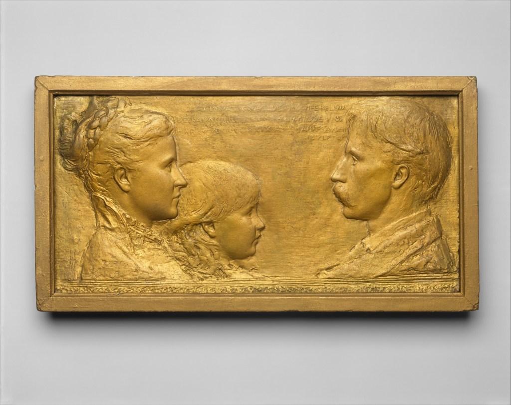 Richard Watson Gilder, Helena de Kay Gilder, and Rodman de Kay Gilder modeled 1879, cast ca. 1883–84 Augustus Saint-Gaudens