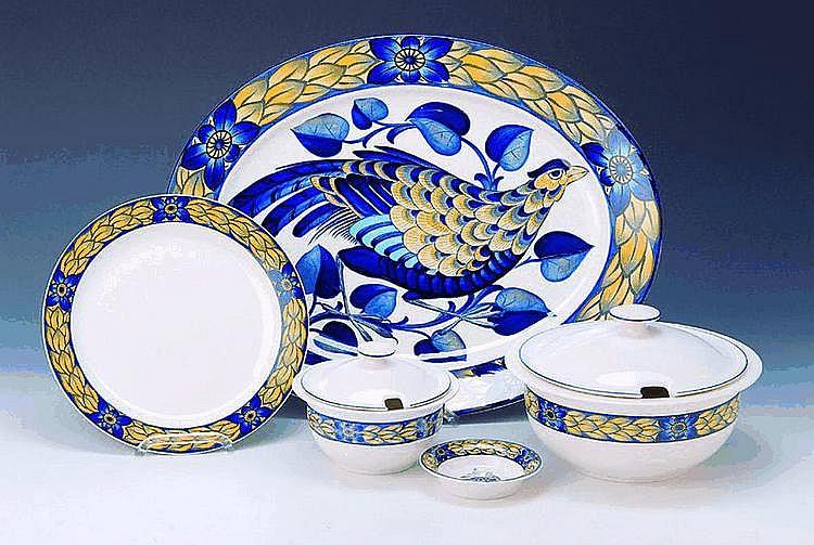 Speiseservice, Royal Copenhagen, Dekor Blue by Christian Joachim
