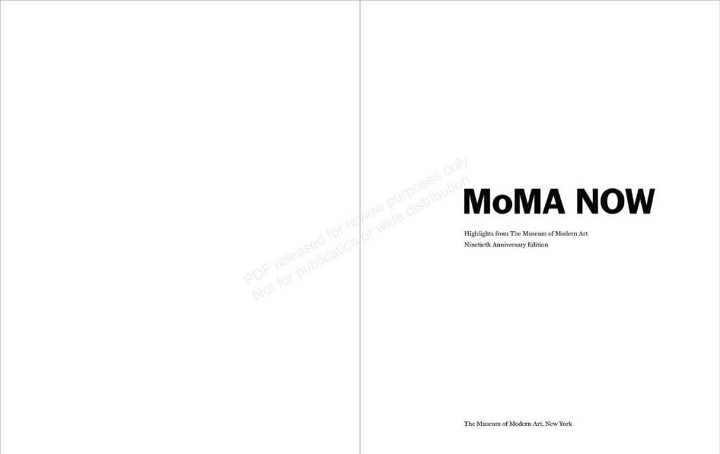 MoMA Now: Highlights from The Museum of Modern Art, New York page sample